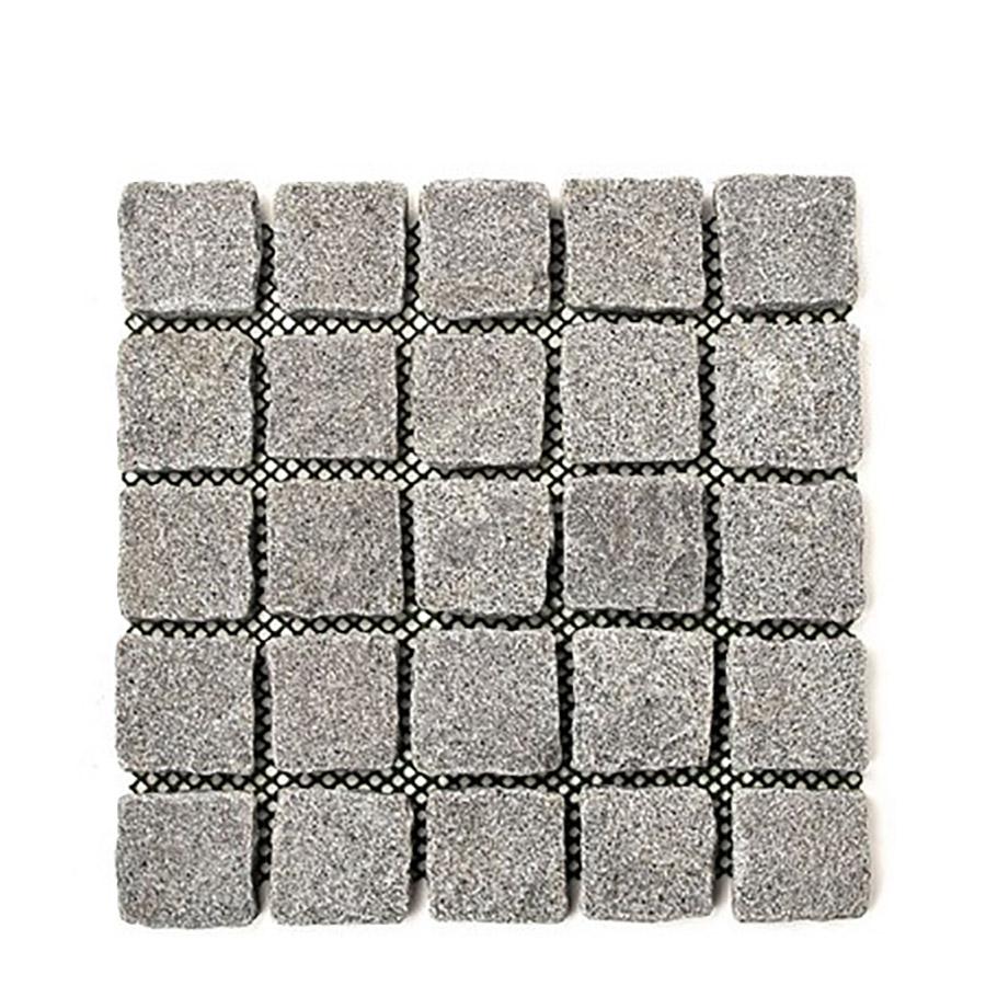 Granit gatsten på nät grafit