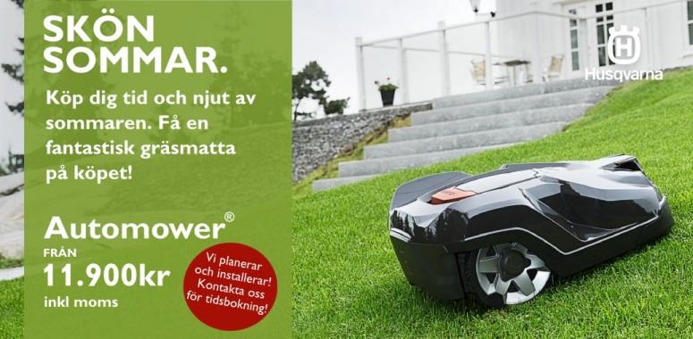 Skön sommar! Skaffa en Automower. Från 11900kr!
